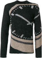 Stephan Schneider clock print sweater