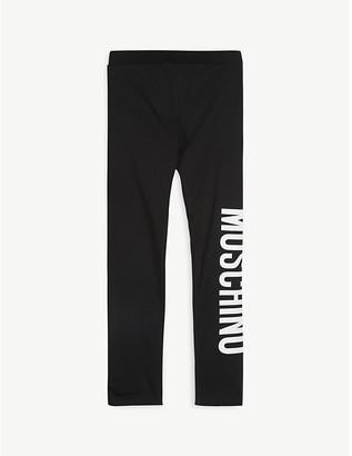 Moschino Logo print cotton-blend leggings 4-14 years