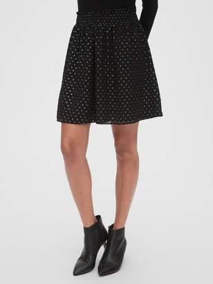 Gap Metallic Clip-Dot Mini Skirt