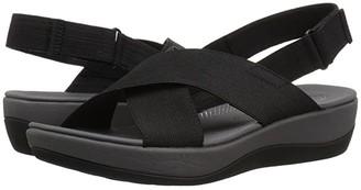 Clarks Arla Kaydin (Black Elastic Fabric) Women's Shoes