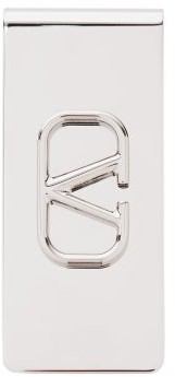 Valentino V-logo Metal Money Clip - Silver