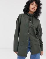 Rains short waterproof jacket in green