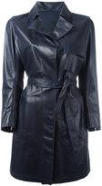 Sylvie Schimmel belted coat - women - Lamb Skin - 42