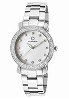 Cabochon Women's 16604-22 Carmel Analog Display Quartz Silver Watch