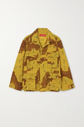 Denimist Surplus Camouflage-print Cotton-blend Canvas Jacket - Green
