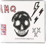 Alexander McQueen skull doodle wallet - men - Calf Leather - One Size