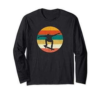 Vintage Skateboard Shirts For Men Gift Retro Skateboarding Long Sleeve T-Shirt