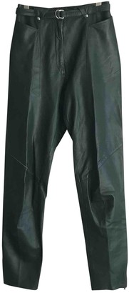 Thierry Mugler Green Leather Trousers