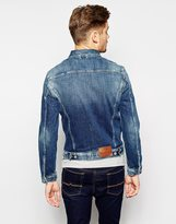 Pepe Jeans Pepe Denim Jacket Rooster Slim Fit Stretch Tied Tint Wash