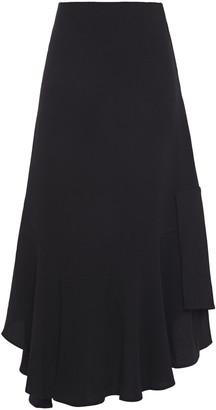 Hofmann Copenhagen Asymmetric Stretch-crepe Midi Skirt