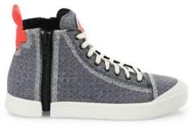 Diesel Zip-Round Mid-Top Sneakers