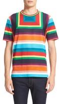 Paul Smith Men's Rasta Mesh Stripe Block T-Shirt