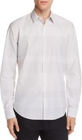 Theory Zack Grid Print Slim Fit Button-Down Shirt