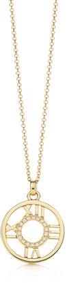Tiffany & Co. Atlas pendant in 18k gold with diamonds