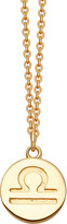 Astley Clarke Libra Zodiac 18ct yellow-gold plated necklace