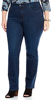 NYDJ Plus Marilyn Straight Leg Jeans