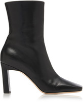 Wandler Isa Two-Tone Leather Ankle Boots