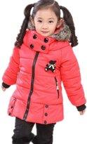 TRURENDI NEW Kids Rabbit Print Winter Warm Hooded Coat Children Outwear Girls Jacket 2-7y