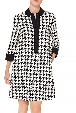 Hobbs London Marci Houndstooth Shirt Dress