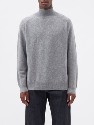 Raey Loose-fit Funnel-neck Cashmere Sweater - Grey