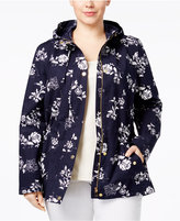 Charter Club Plus Size Floral-Print Utility Jacket, Only at Macy's