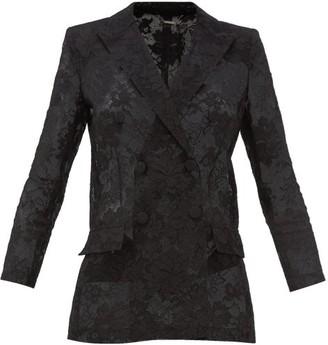 Givenchy Bonded Floral-lace Blazer - Black