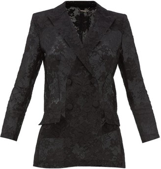 Givenchy Bonded Floral-lace Blazer - Womens - Black