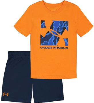 Under Armour Toddler Boy Diverged Logo Graphic Tee & Shorts Set