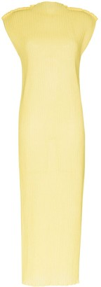 Jil Sander Ribbed Stand-Up Collar Dress