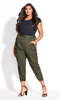 City Chic Utility Bliss Pant - fern