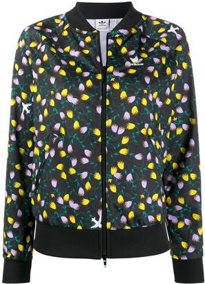 adidas AOP floral-print bomber jacket