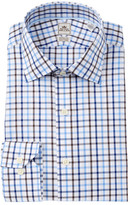 Peter Millar Grid Print Dress Shirt