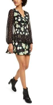 Foxiedox Anemone Smocked Mixed-Print Dress