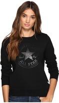 Converse Chuck Patch Metallic Dot Crew Fleece Top Women's Fleece