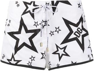 Dolce & Gabbana Star Print Beach Shorts