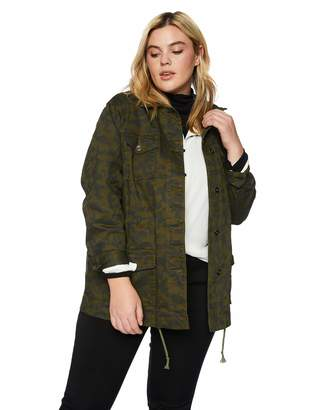 Skyes The Limit Women's Plus Size Camouflage Cargo Jacket