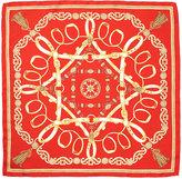 J.Mclaughlin Silk Scarf in Heraldic Tassel