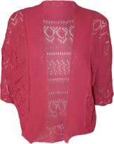 RM Fashions Womens Plus Size Crochet Knit Bolero Cardigan Shrug Top