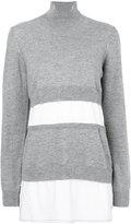 Marni deconstructed sweater - women - Cotton/Cashmere/Virgin Wool - 38