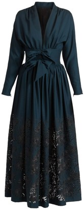 Alaia Bow-Waist Pointelle Dress