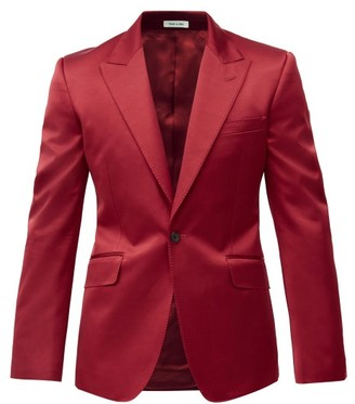 Alexander McQueen Single-breasted Cotton-blend Sateen Suit Jacket - Red
