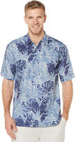 Cubavera Short Sleeve Palm Printed Shirt