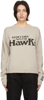 Reese Cooper Beige Hunting With Hawks Sweater