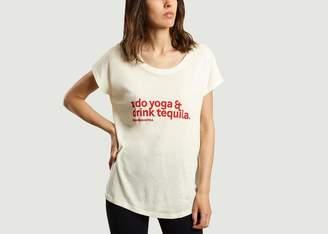 BA&SH Ana Heart - Oatmeal Bash Cottond and Tencel T Shirt - cotton | oatmeal | 1 - Oatmeal