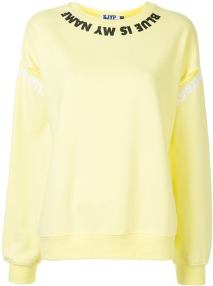 Sjyp Cut Sleeve printed sweatshirt