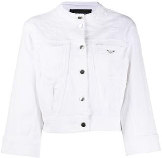 Emporio Armani Cropped Denim Jacket