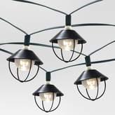 Threshold 20ct Solar Metal Lantern Outdoor LED Light Set