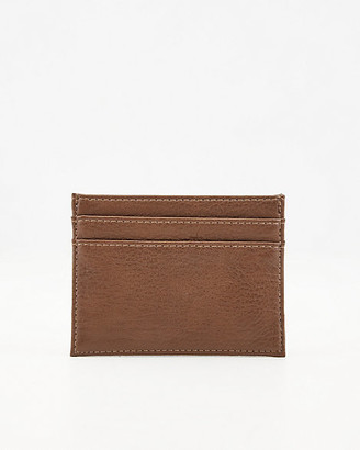 Le Château Pebbled Faux Leather Card Holder