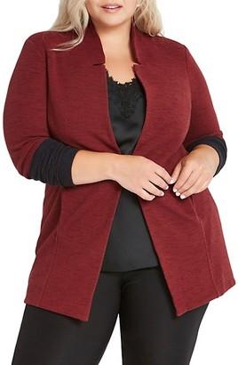 NIC+ZOE, Plus Size Colorblock Me Knit Jacket