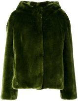 Venus hooded fur jacket